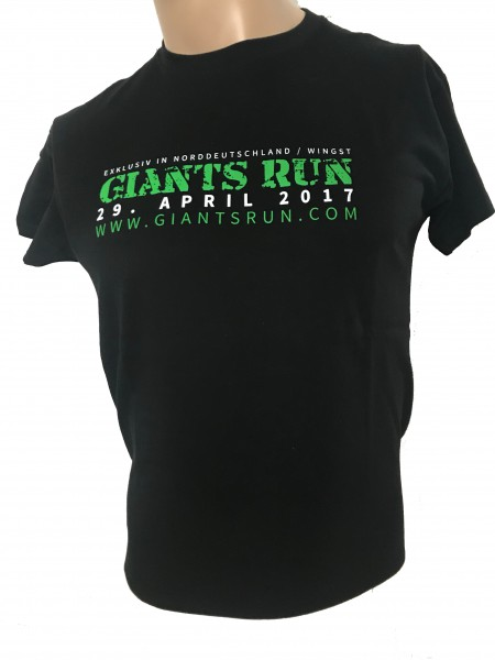 T-Shirt 'GIANTS RUN ® 2017' Herren - schwarz / grau