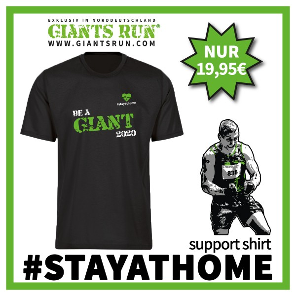 T-Shirt Giants Run - stay at home