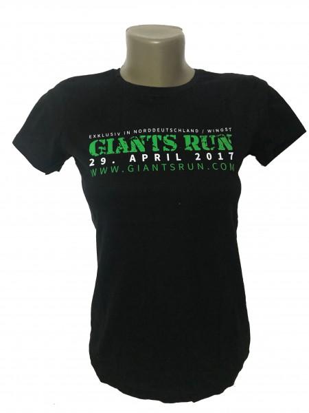 T-Shirt 'GIANTS RUN ® 2017' Damen - schwarz / pink / grau
